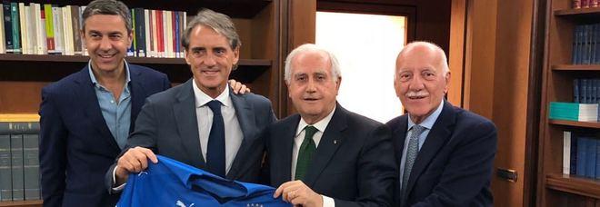 Roberto Mancini è il nuovo ct dell'Italia. Contratto di durata biennale, foto Figc