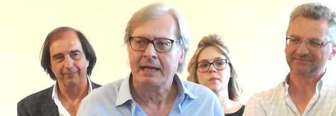Il sindaco Sgarbi debutta con la fascia: «Chi non conosce Sutri capra è»