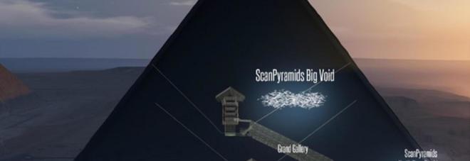 Piramide di Cheope, grazie ai raggi cosmici scoperto corridoio misterioso