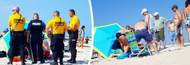 Il vento fa volare l'ombrellone, donna impalata in spiaggia e ricoverata in ospedale