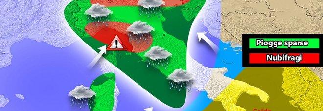 Meteo pazzo: nel weekend nubifragi al Centro Nord, sole e 27° gradi al Sud