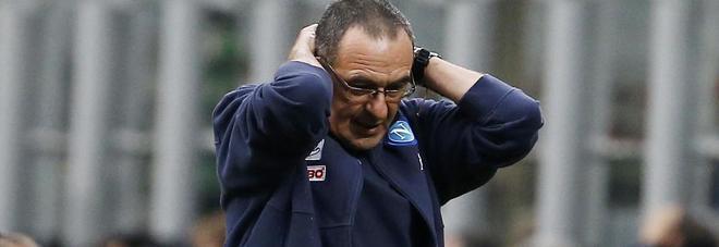 Sarri: «Non ci interessa cosa fa la Juve. Il rammarico è la gara con il Sassuolo»