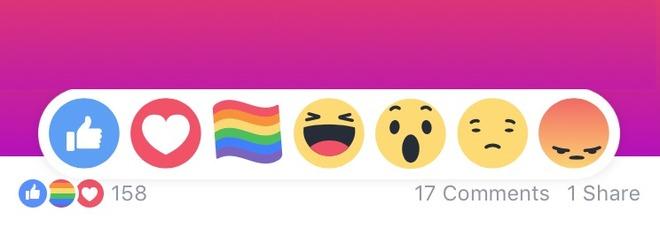 Facebook, ecco perché sono spuntate le reaction con l'arcobaleno e come attivarle