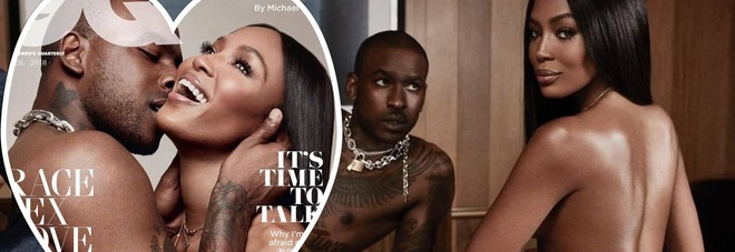 Naomi Campbell in topless col suo toy boy: