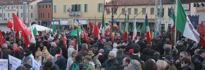 Un'immagine d'archivio di uno dei raduni Anpi dell'11 dicembre a Mirano, per ricordare l'uccisione dei partigiani