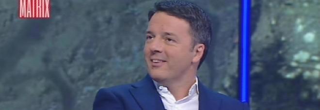 """Renzi a Matrix: """"Da premier non mi sono arricchito, sul conto ho 15mila euro"""""""