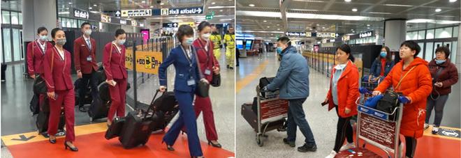 Virus in Cina, atterrati a Roma 202 passeggeri da Wuhan: via a profilassi. «Tutti sani»