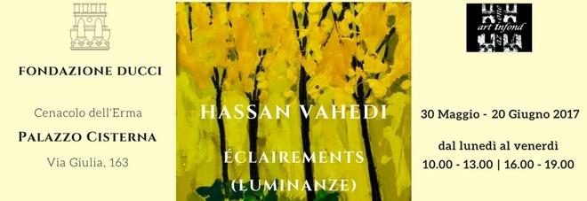 'Luminanze', la mostra di Hassan Vahedi dal 30 maggio al 20 giugno a Palazzo Cisterna