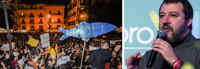 Sfida di Salvini alle Sardine: le nostre piazze anti-tasse mentre loro sfilano a Roma