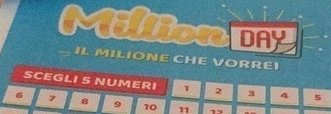 Million Day, i numeri vincenti di sabato 4 gennaio 2020