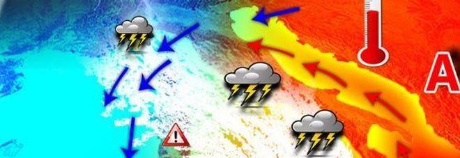 Arriva Caronte: temporali piccoli tornado e temperature su di 15 gradi