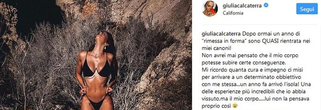 Il post di Giulia Calcaterra