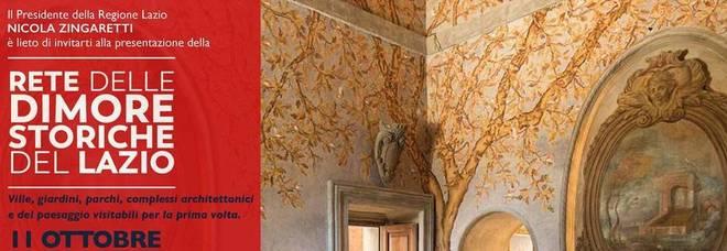 Il Lazio si mette in mostra, il 21 ottobre aprono le dimore storiche mai viste prima