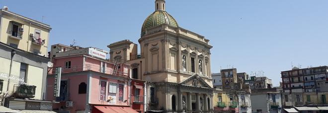 Napoli -  La chiesa di Santa Croce e Purgatorio al Mercato