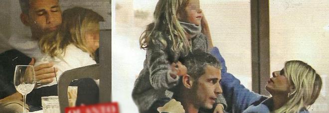 Alessia Marcuzzi, cena col marito Paolo che fa da papà alla figlia Mia