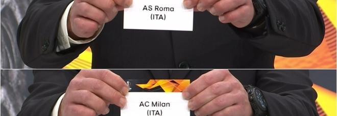 Europa League, dalle 13 diretta LIVE del sorteggio ottavi: per Roma e Milan pericolo inglesi, derby possibile