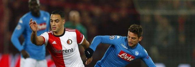Feyenoord-Napoli 2-1: è l'addio dei partenopei alla Champions