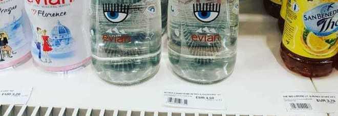 Sorpresa nell'aeroporto di Brindisi: l'acqua Ferragni a prezzo di saldo