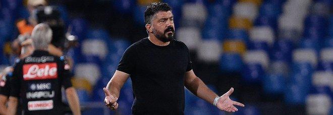Napoli, Gattuso: «I miei giocatori mi fanno arrabbiare, sprecano troppe chance»