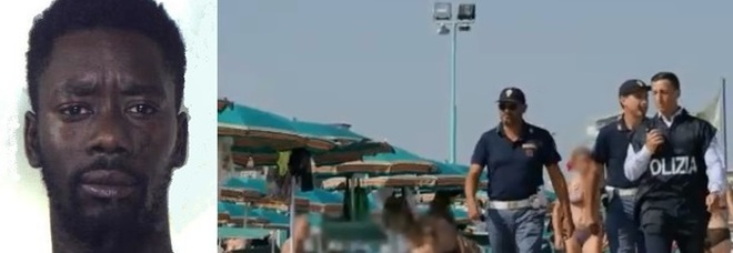 Stuprata a 15 anni in spiaggia, il violentatore filmato dalle telecamere: «E' uno spacciatore africano»