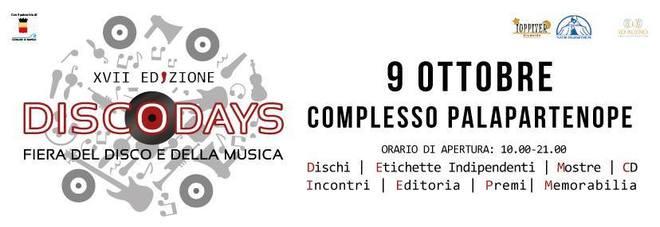 Da Napoli a Sanremo, DiscoDays si sdoppia: appuntamento domenica 9 ottobre