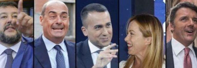 Sondaggi politici elettorali: scende la Lega, boom di Fratelli d'Italia
