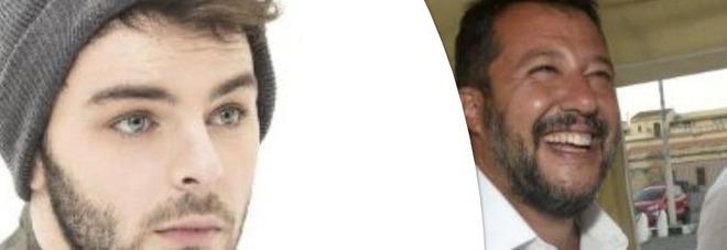 """Matteo Salvini, Lorenzo Fragola lo insulta su Twitter: """"Sei una Mer.."""". E lui risponde così"""