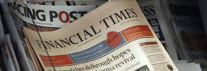 La copertina del quotidiano finanziario britannico
