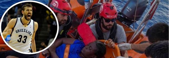 Marc Gasol, il campione da 20 milioni di dollari diventa volontario e salva i migranti: «Troppe persone vengono abbandonate»