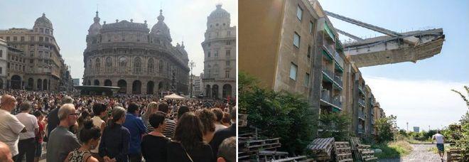 Genova un mese dopo, la città si ferma in ricordo delle 43 vittime del ponte