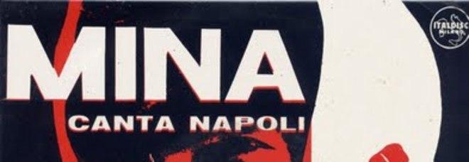 """La copertina di  """"Mina canta Napoli"""""""