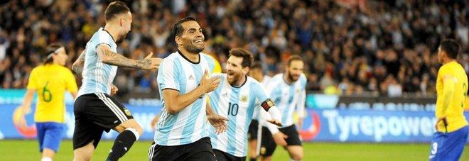 Parte bene l'Argentina di Sampaoli: basta Marcado per stendere il Brasile