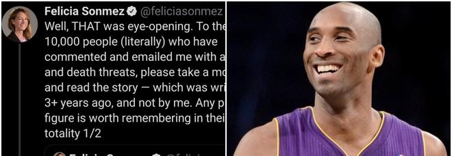 Kobe Bryant, sospesa la giornalista che l'ha accusato di stupro su Twitter dopo l'incidente