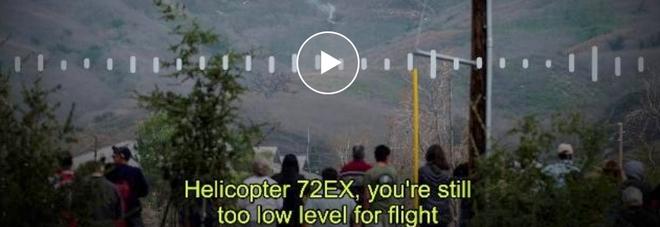 Kobe Bryant, la torre di controllo al pilota dell'elicottero: «Voli troppo basso»