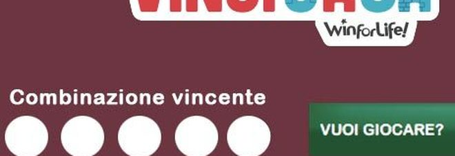 VinciCasa, l'estrazione di oggi giovedì 17 ottobre 2019: i numeri vincenti