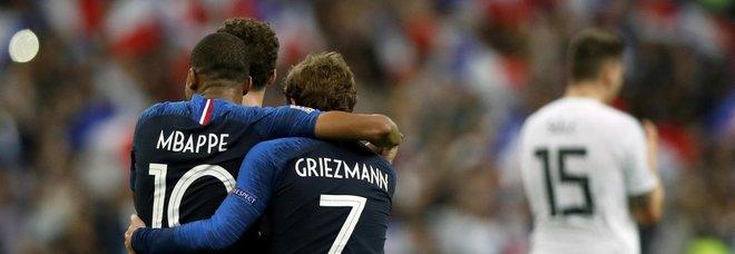 Francia-Germania 2-1: i Bleus vincono in rimonta, tedeschi a un passo dalla Lega B