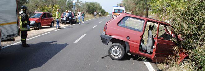 Auto contro un albero: donna in gravi condizioni