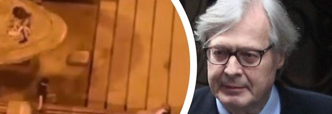 Fontana sfregiata, Vittorio Sgarbi: «Il gesto di tre idioti incivili»