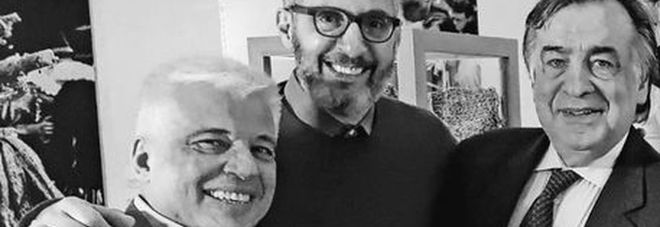 John Turturro con Leoluca Orlando, sindaco di Palermo,  e i vertici del Teatro Massimo