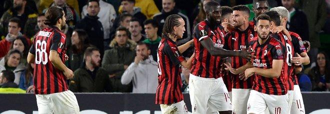 Betis-Milan 1-1: Suso salva i rossoneri, qualificazione aperta
