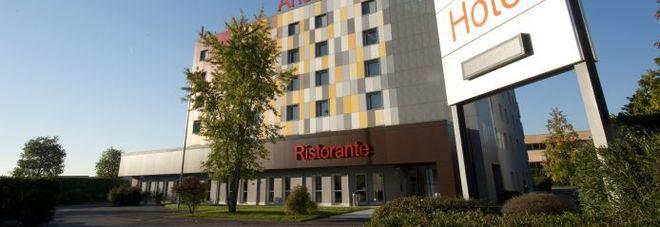 L'hotel Aries di Vicenza dove è avvenuto l'arresto