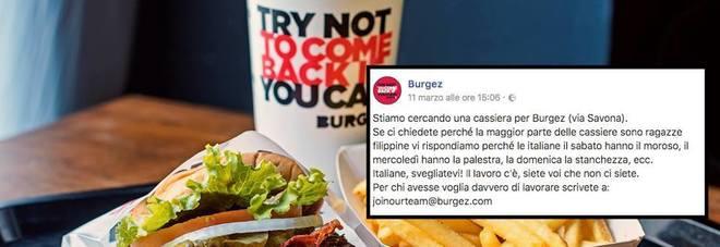 """Burgez e il lavoro: """"Perché le filippine? Le italiane hanno palestra e moroso..."""". L'annuncio fa il giro del web"""