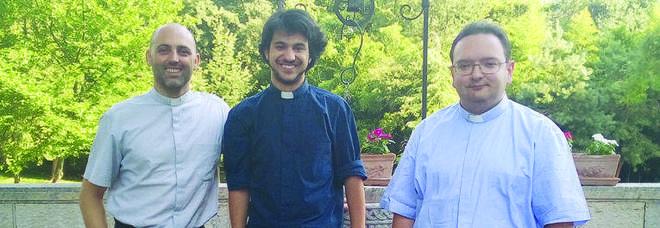 Da sin.: Luca, Alberto e Giulio