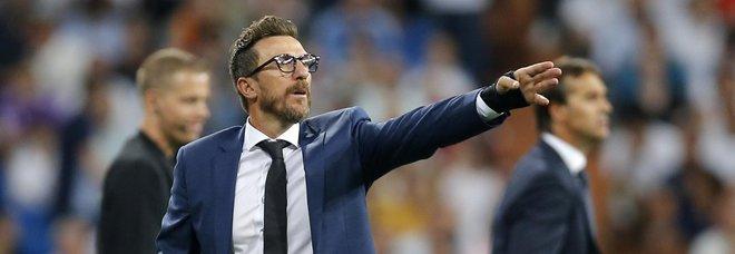 Champions, Di Francesco: «Mi preoccupo»