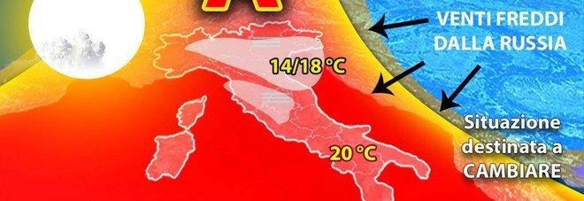 Meteo, caldo addio: dalla Russia arriva il primo freddo/Previsioni
