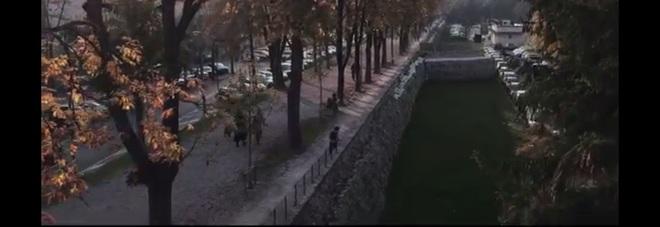 UNA DELLE IMMAGINI CATTURATE DAL DRONE UTILIZZATO PER IL VIDEO SULLE MURA DI TREVISO