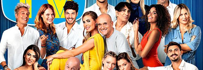 I concorrenti del GFVip3, la conduttrice iIary Blasi e l'opininista Alfonso Signorini