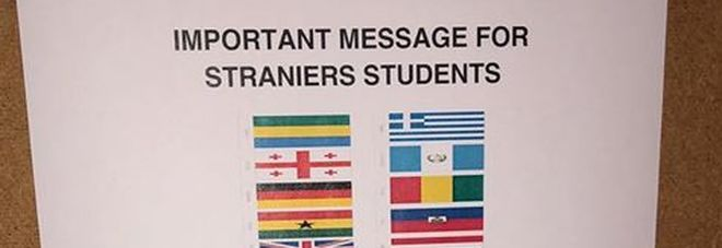 Università, il bizzarro avviso per gli studenti «straniers» a Roma: è giallo social