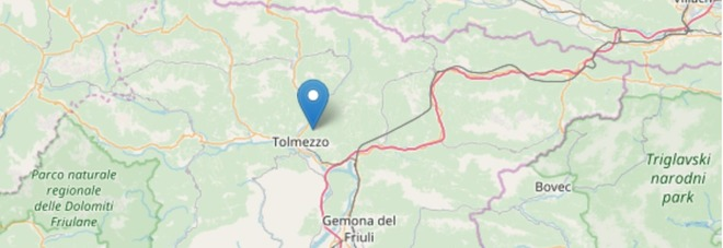 Terremoto, ancora una forte scossa di magnitudo 3.8: paura a Tolmezzo