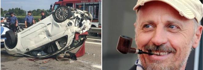 Marco Paolini, morta la donna investita dall'attore sull'A4. Lui ammette: «Colpa mia, distratto da un colpo di tosse»